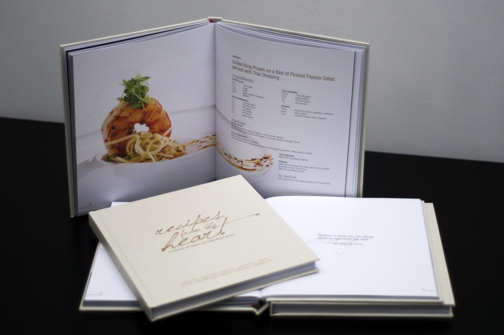 how to put together a cookbook
